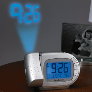 brookstone projection clock