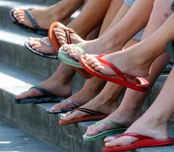 flip flops bad for your health
