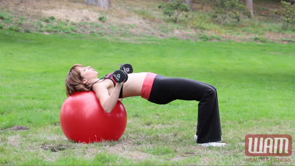 stability ball exercise - bench press 4